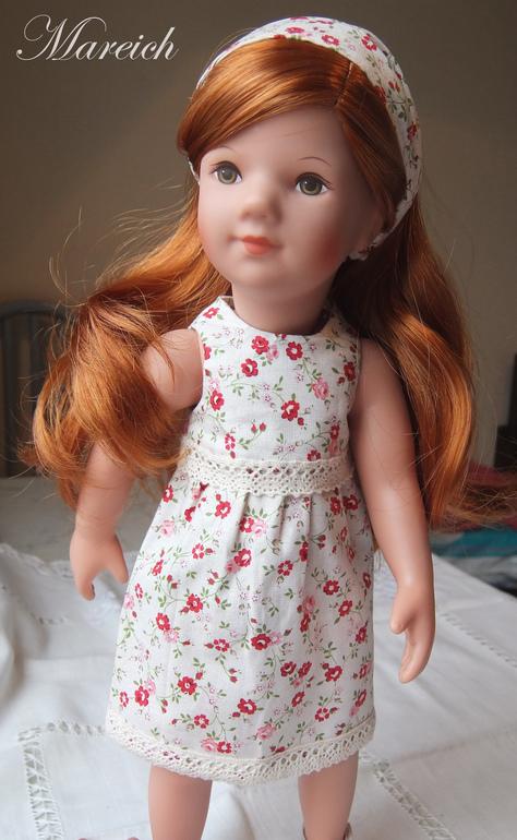 Красное платье из мерсеризованного хлопка