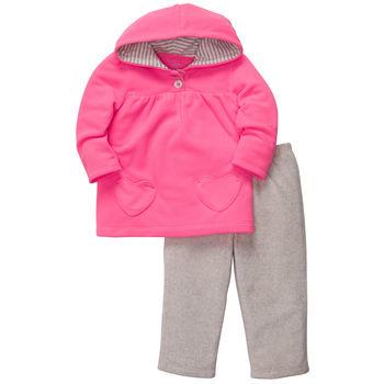 Carters комплект пуловер+брюки «Розовый с сердечками»