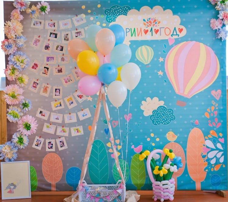 Оформление день рождения на годик своими руками