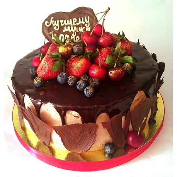 Украсить торт фруктами и шоколадом своими руками фото фото 616