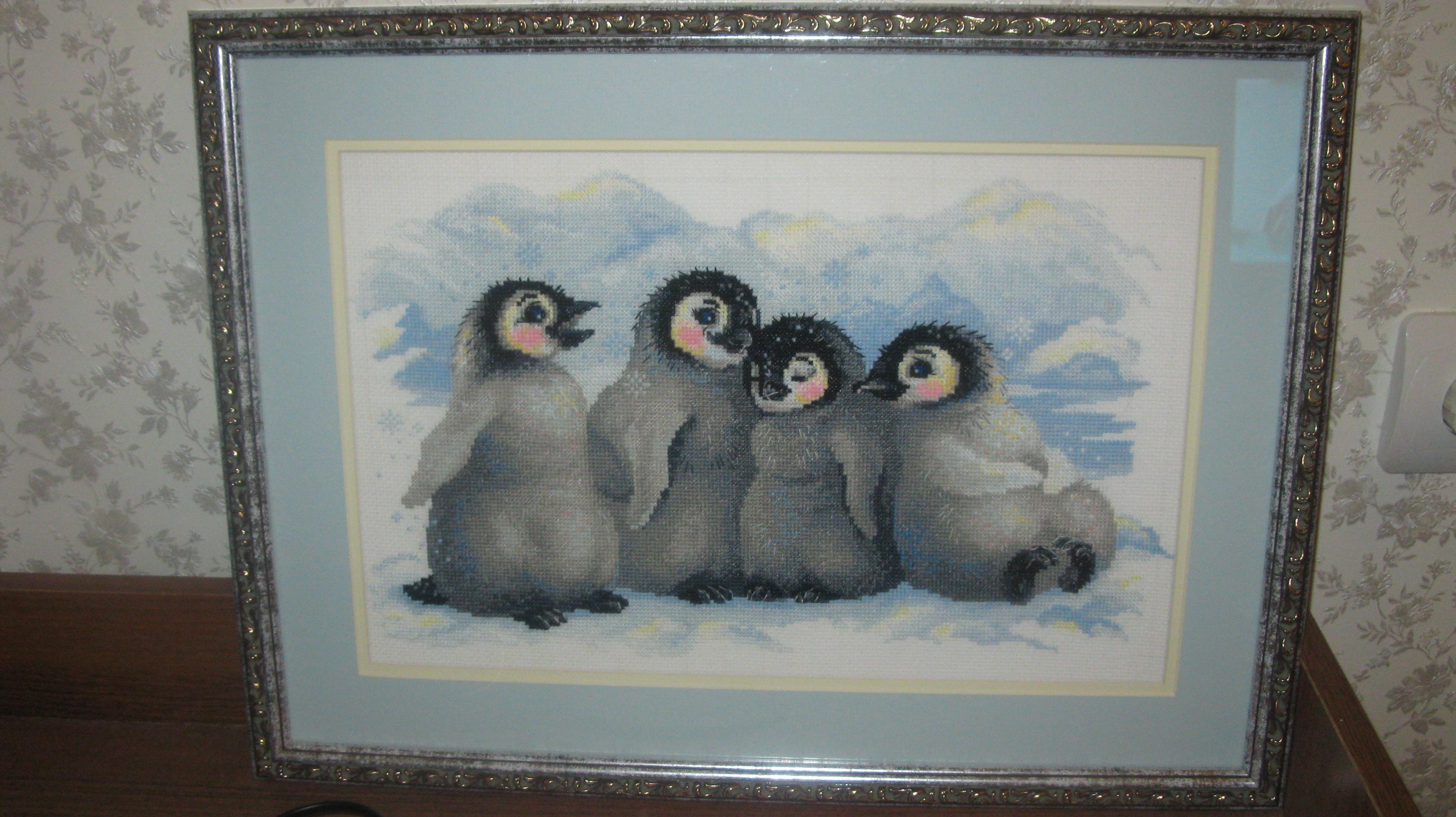 """Моя первая работа """"Пингвины"""""""