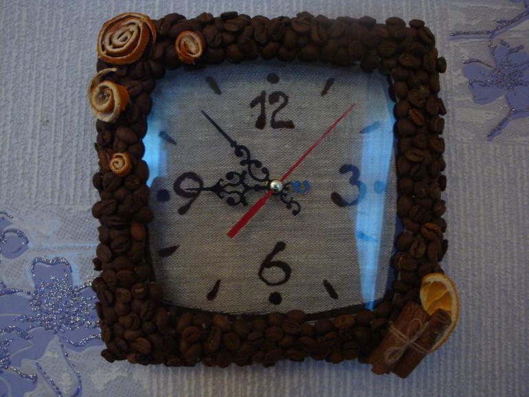 К сделать часы из кофейных зерен своими руками