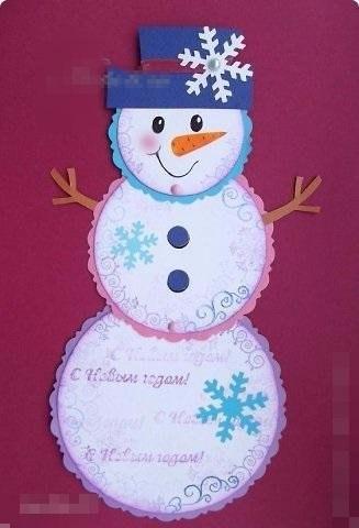 Открытки с снеговиками как сделать