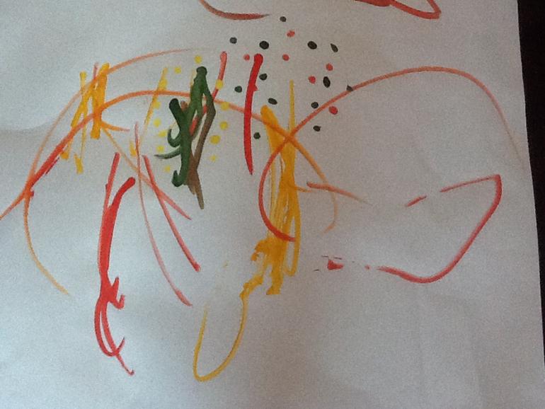Урок рисования ватными палочками