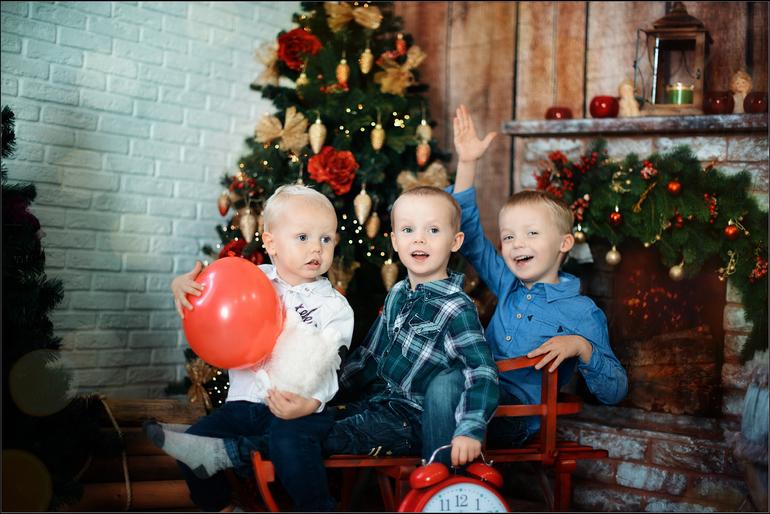 Новогодние семейные фотосессии с детьми фото