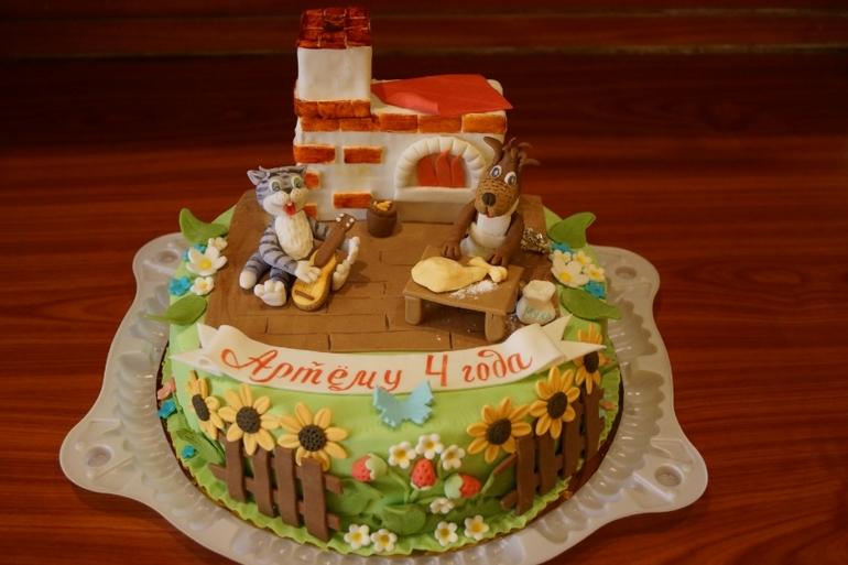 Персиково мятный торт фото 5