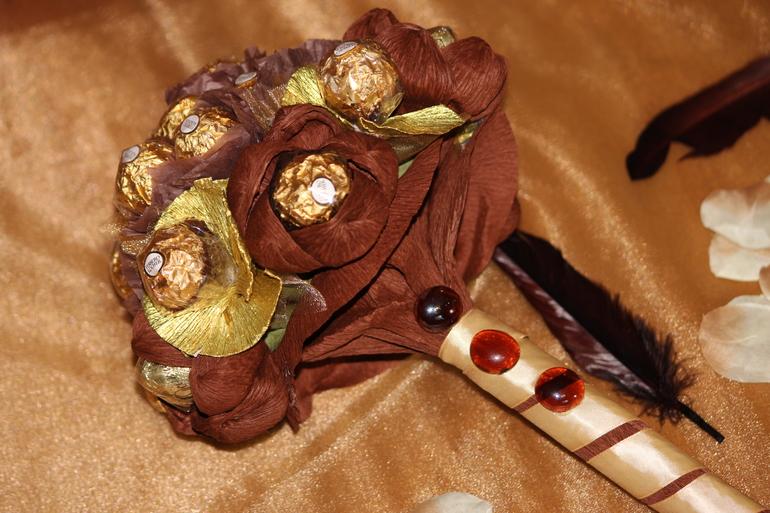 Букеты из конфет своими руками ферреро роше 48