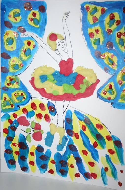 Балерина рисовать с детьми
