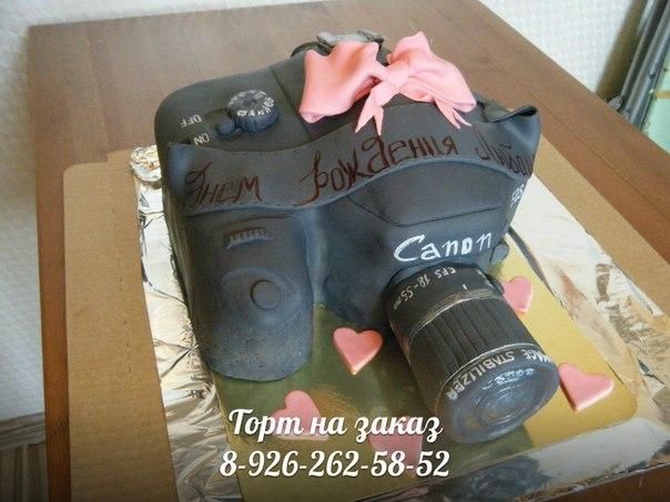 Торт фотоаппарат