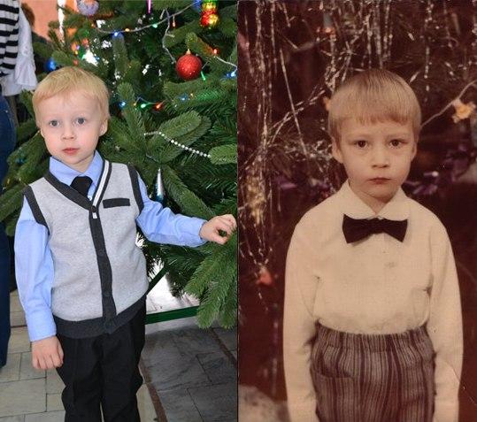 сын и папа. ну как?