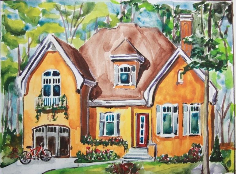Рисунок своими руками я в доме