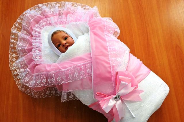 Конверт для новорождённой девочки