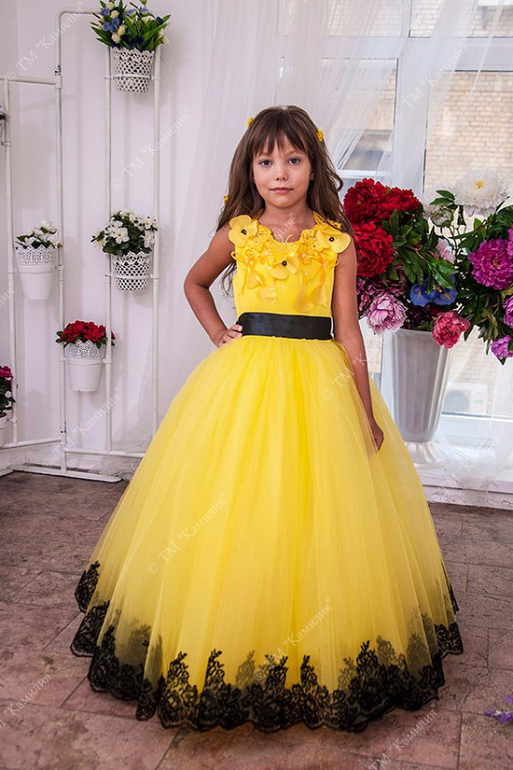 Платье желтое детское