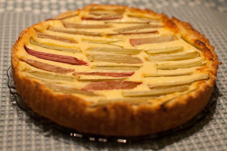 Пирог с ревенем и творогом рецепт пошагово в духовке