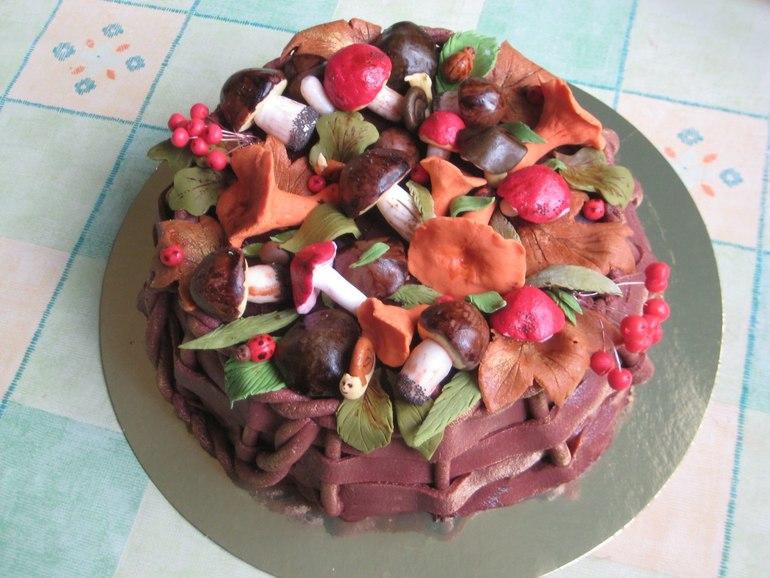 Торт грибная поляна фото