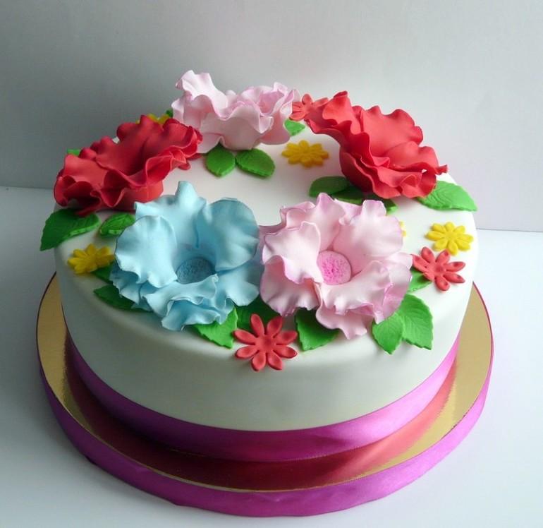 Торт на заказ цветы