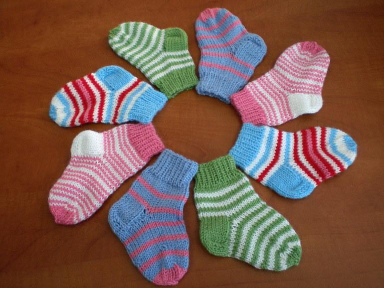 Вязание детский носок
