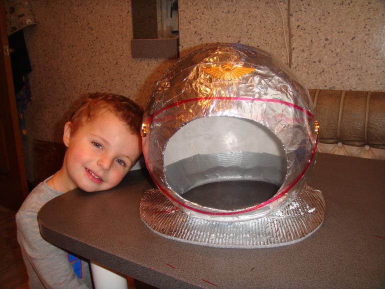 Как сделать шлем космонавта сделать своими руками 103