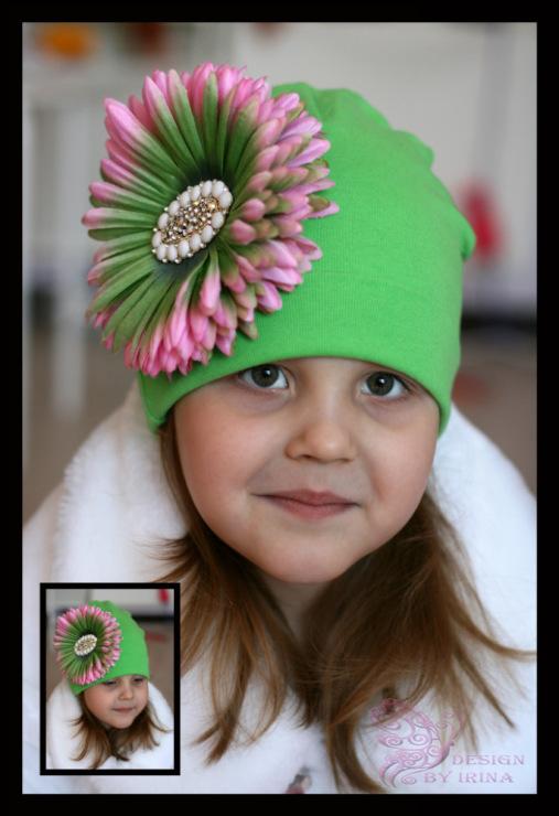 Цветок на шапке своими руками 99