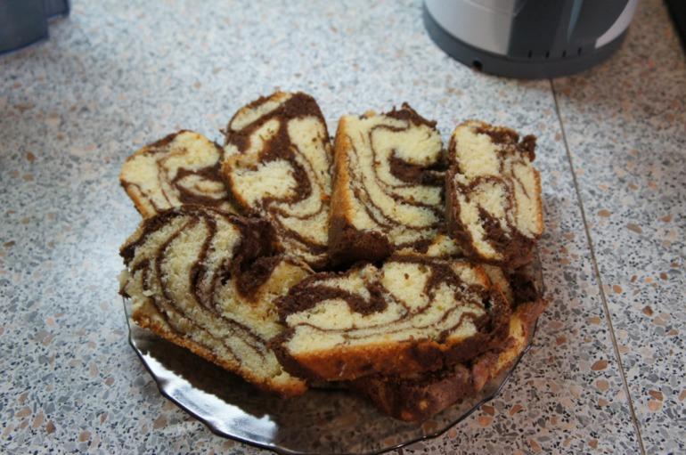 мраморный кекс в панасоник 2502