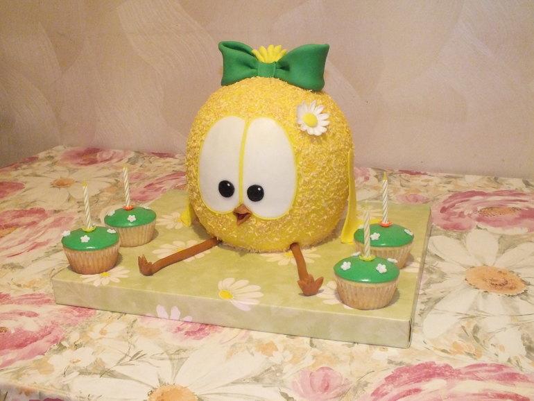 Торт цыпленок фото