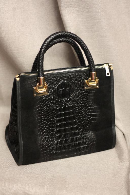 Большие замшевые женские сумки Итальянские