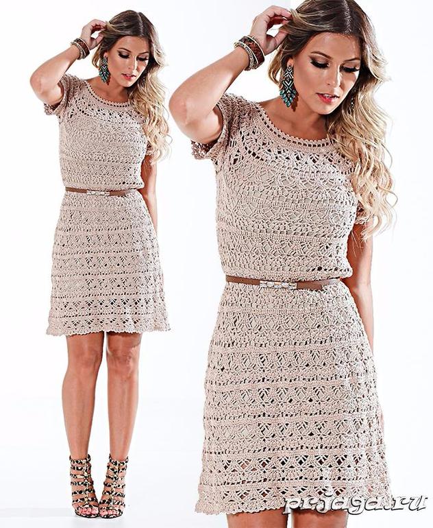 Вязаные летние платья для женщин