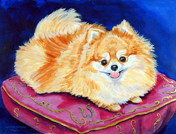 Собака шпиц нарисовать