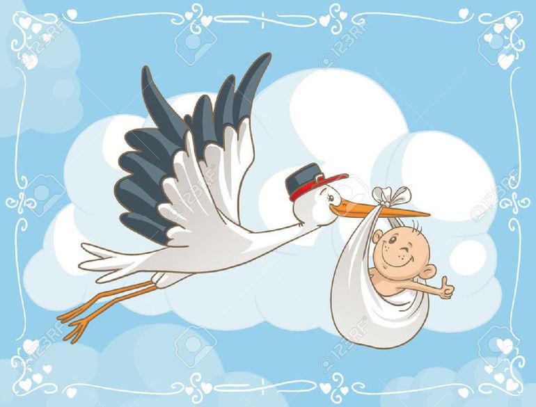 Аист с ребенком открытки с 33