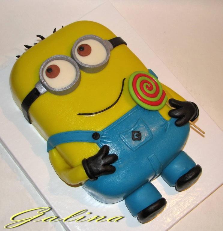 Красивые торты с миньёнами фото