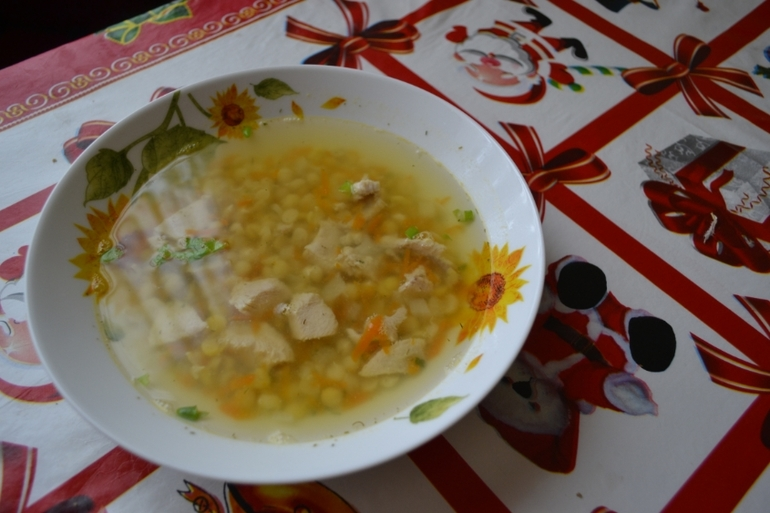 калорийность супа горохового без мяса