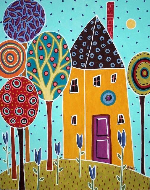 Раскраски онлайн домики