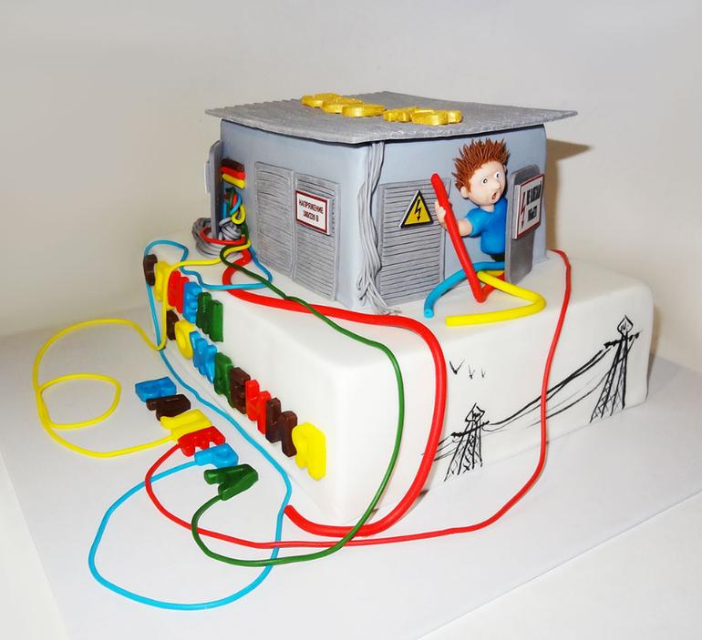 Торт для электрика своими руками 43