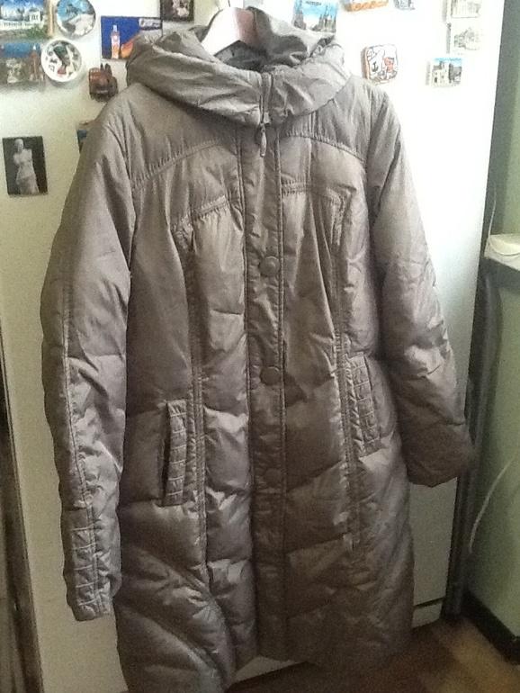 Зимнее  пуховое  пальто  48  р-р