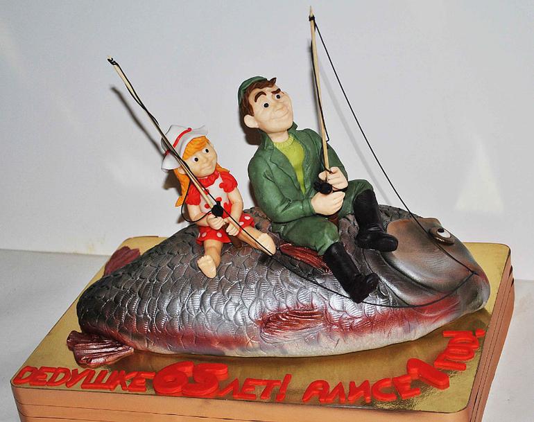 фото торт юбилей рыбак