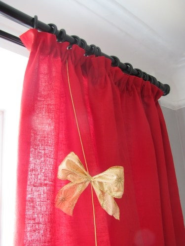 Я пошила новогодню штору