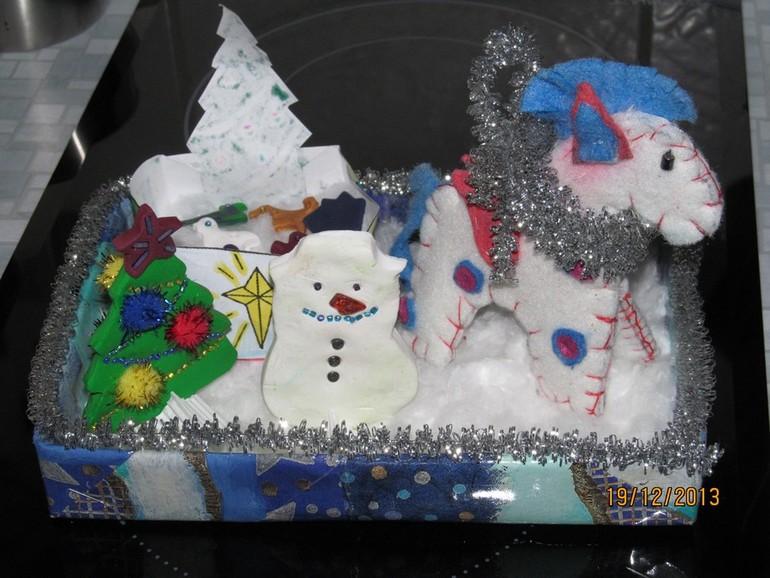 Поделка новогодняя в сад детский :)))