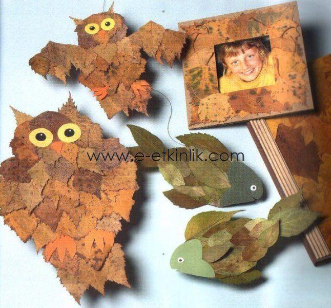 Что можно сделать из листьев поделку