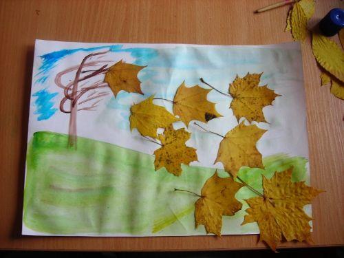 Осенний листопад поделка