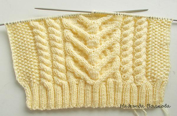 Вязание свитера на круговых спицах без шва 584