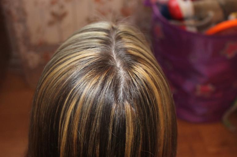 Желтый цвет волос мелирование