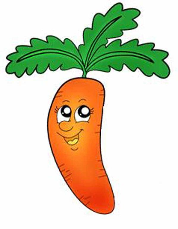 Мультяшная морковь