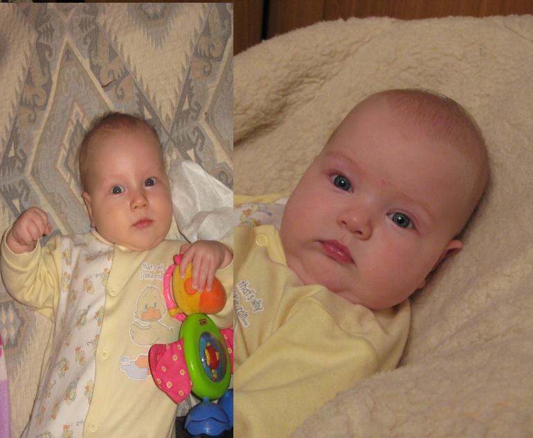 Двое  из  ларца....сын  и  дочь  в  5  месяцев.