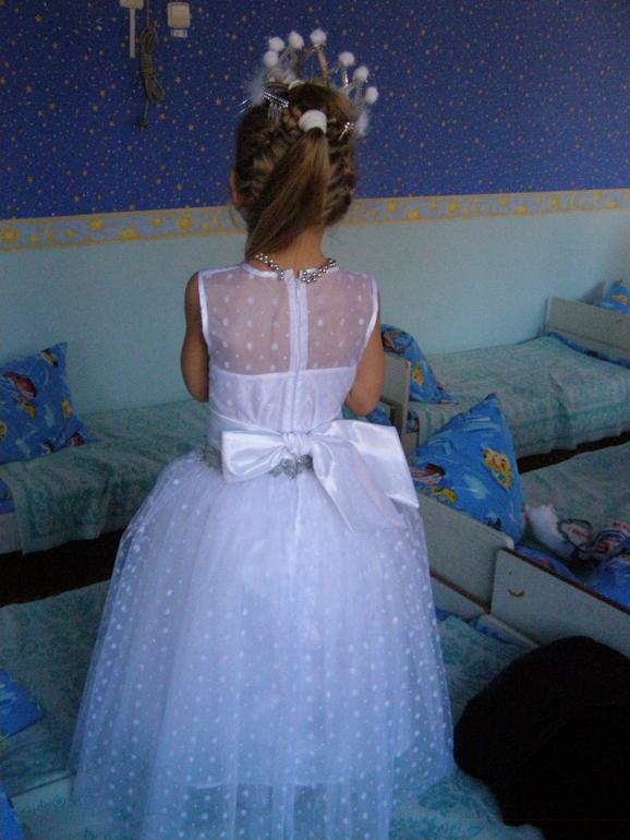 Платье снежинки дочке на НГ