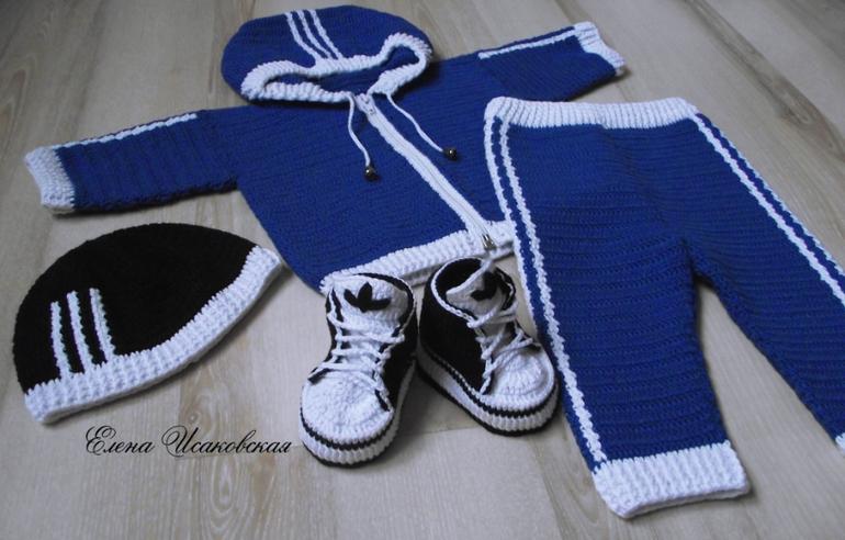Схема вязания спортивного костюма адидас