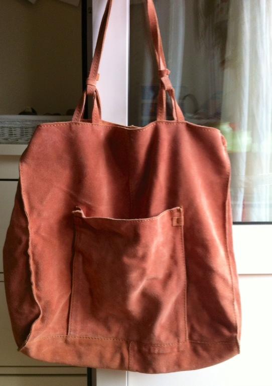ZARA сумка шоппер натуральная замша. Всего 900р!