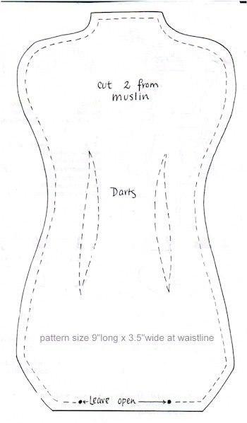 Манекен своими руками из ткани