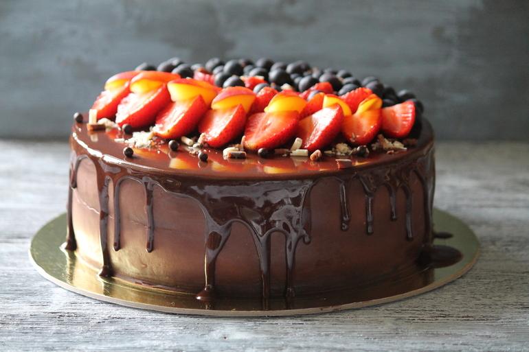 Торт из фруктов с шоколадом рецепт с фото