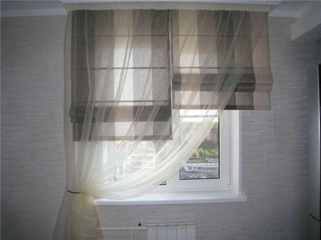 Шторы на широкое окно