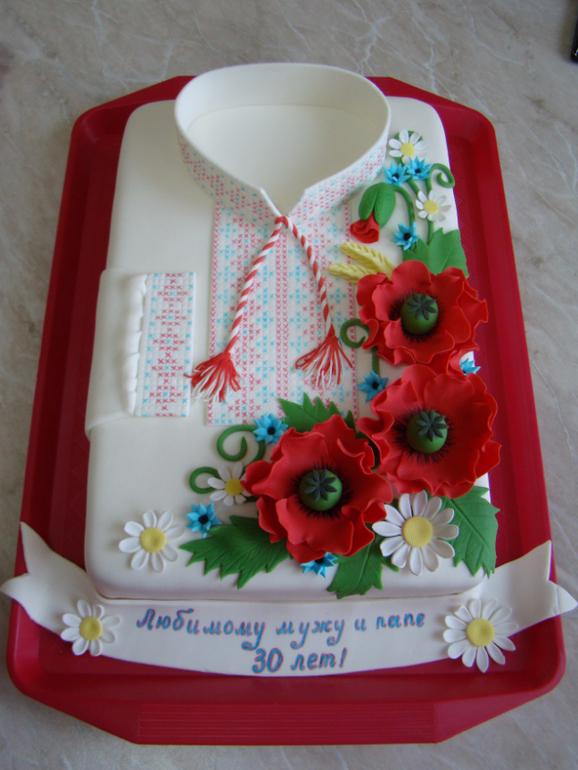 Торты в виде рубашки фото